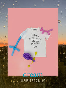 ''FUNNY CLOUD'' T-SHIRT (WHITE)