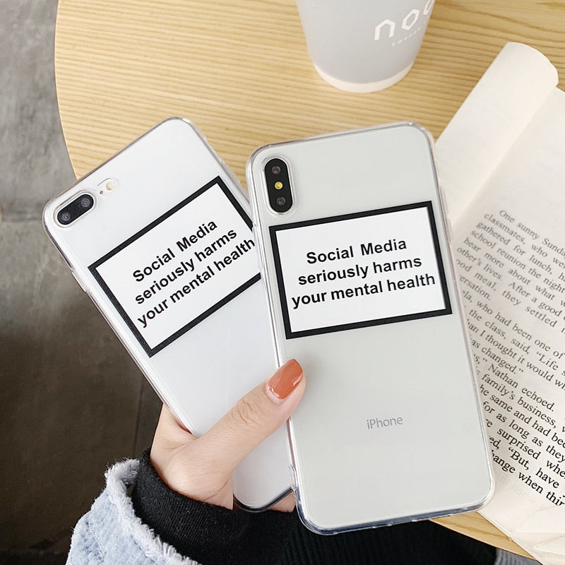 madtesttesttest - Social Media Harms your Mental Health iPhone Case