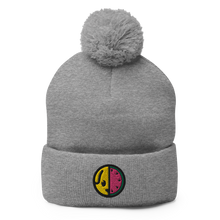 Load image into Gallery viewer, Pom-Pom Beanie (Puff Embroidery)