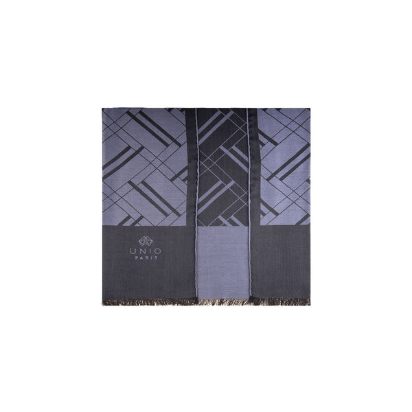 Chevron 1920 Anthracite Scarf
