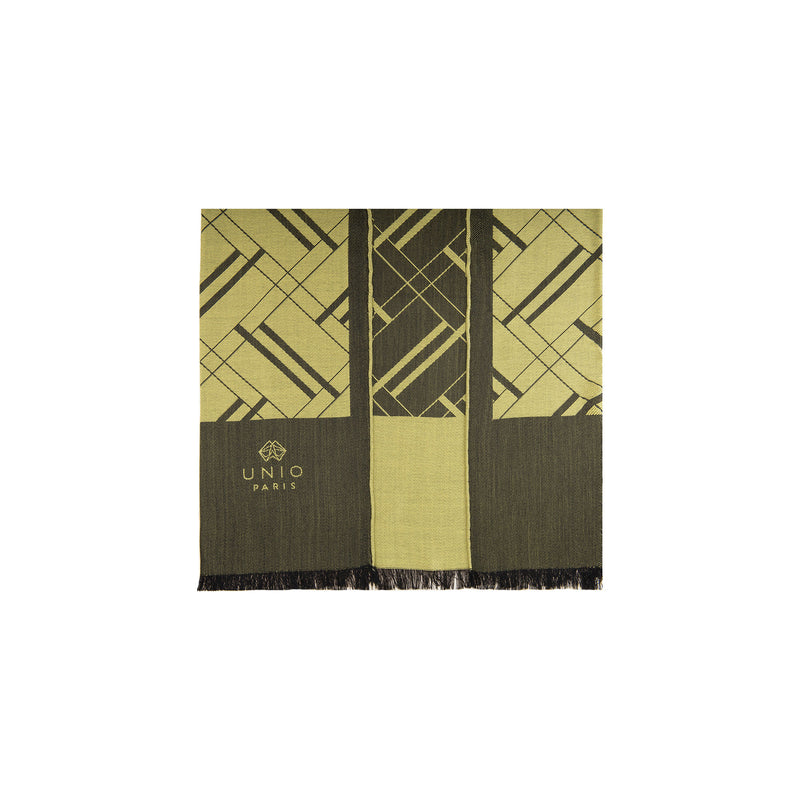 Chevron 1920 Green Olive Scarf