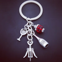 CookEas Wine Glass Keychain