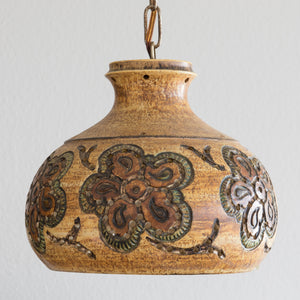 JETTE HELLERØE Abstract Decorated Ceramic Pendant Light - Mollaris.com