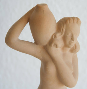 OVE RASMUSSEN Woman with Jar Ceramic Figurine - Mollaris.com