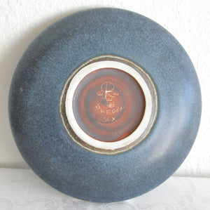 Rörstrand CARL HARRY STÅLHANE Blue Harefur Glazed Stoneware Bowl Dish - Mollaris.com