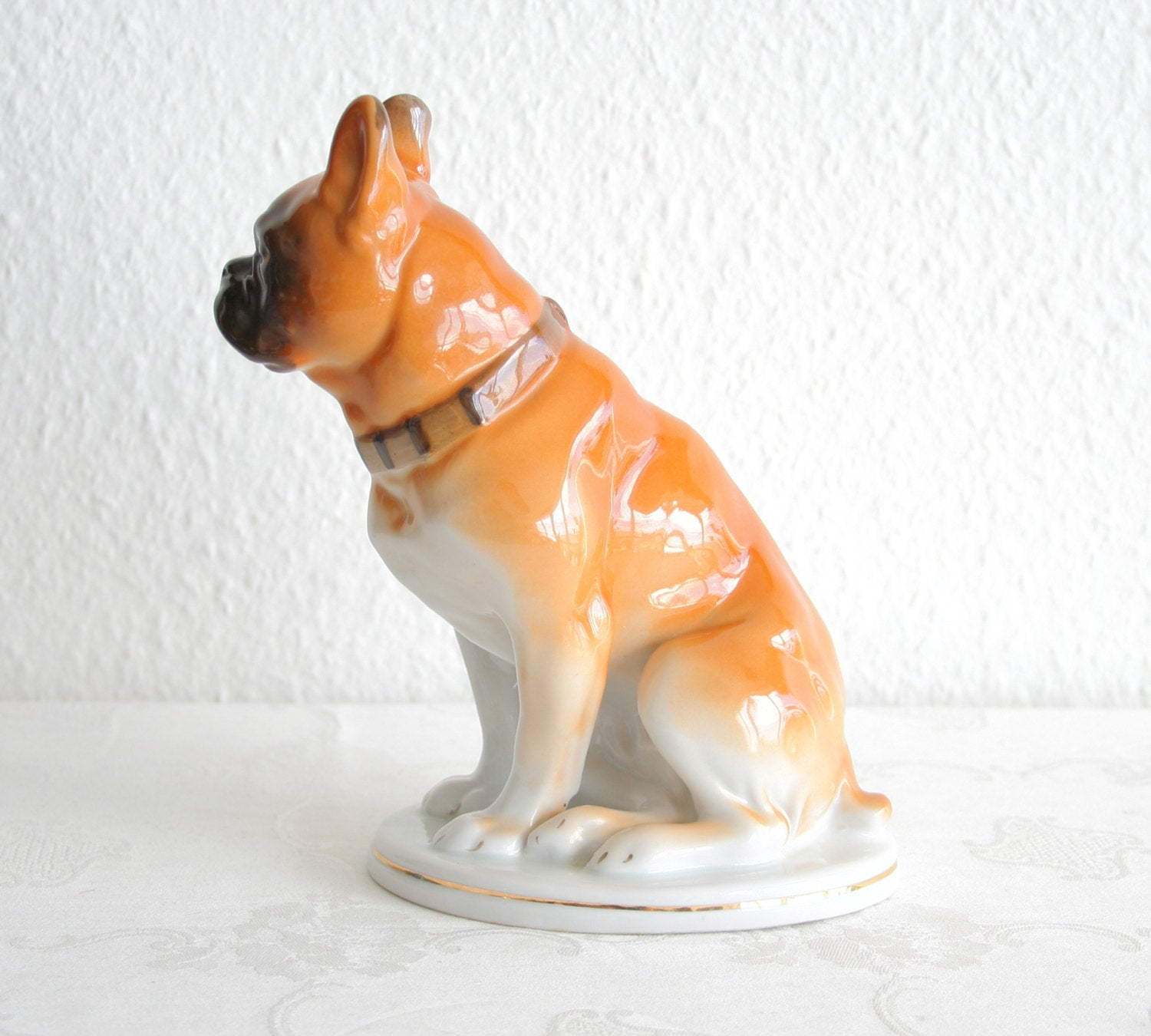 LOMONOSOV French Bulldog Pug Porcelain Sculpture - Mollaris.com
