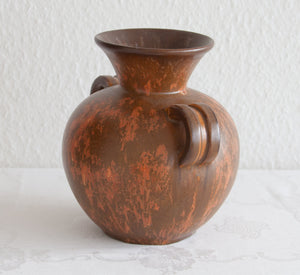 MICHAEL ANDERSEN Rust Brown Red Glazed Stoneware Vase - Mollaris.com