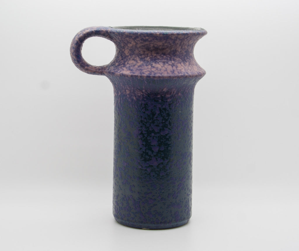 JASBA Purple and Blue Glazed Fat Lava Ceramic Vase - Mollaris.com
