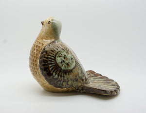 JOSEPH SIMON Søholm Decorated Dove Stoneware Sculpture - Mollaris.com