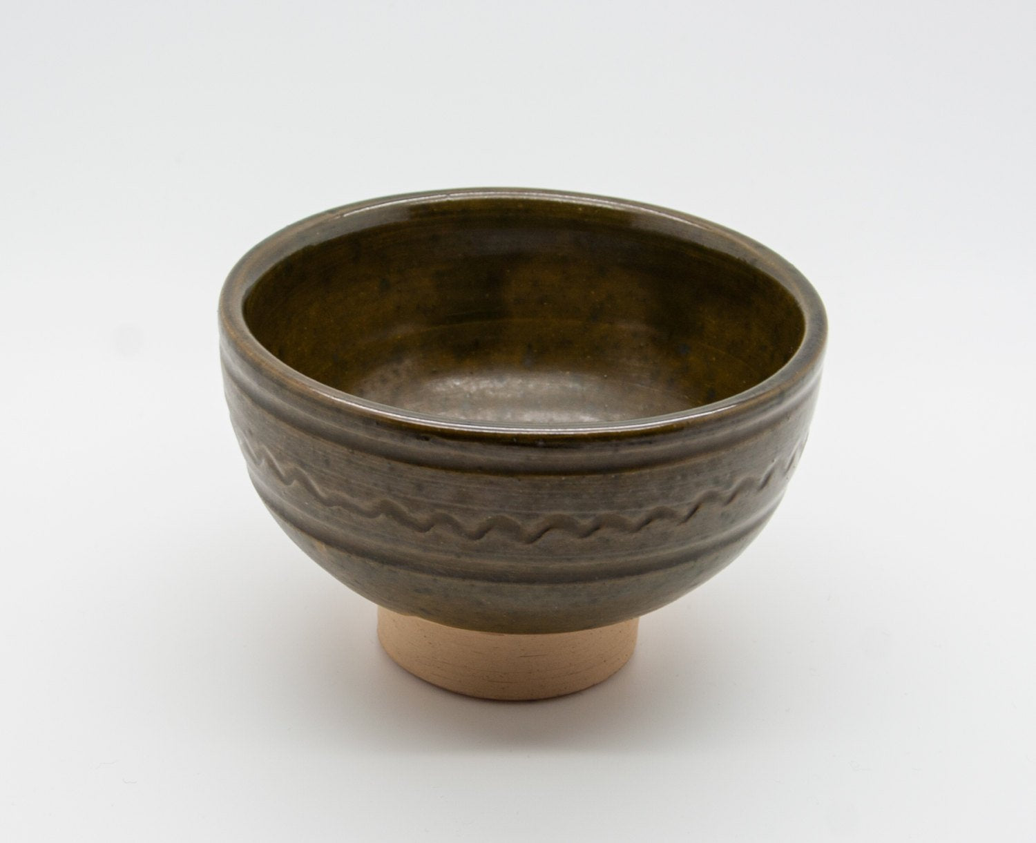 PRÆSTØ Green Glazed Ceramic Footed Bowl - Mollaris.com