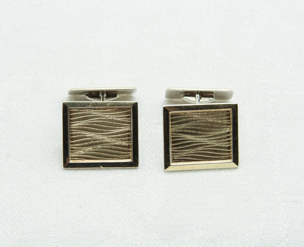 HUGO GRÜN Modernist Gold-Plated Solid Silver (830S) Cufflinks - Mollaris.com