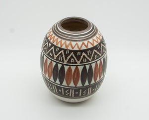 MICHAEL ANDERSEN Sgrafitto Abstract Patterned Stoneware Vase - Mollaris.com