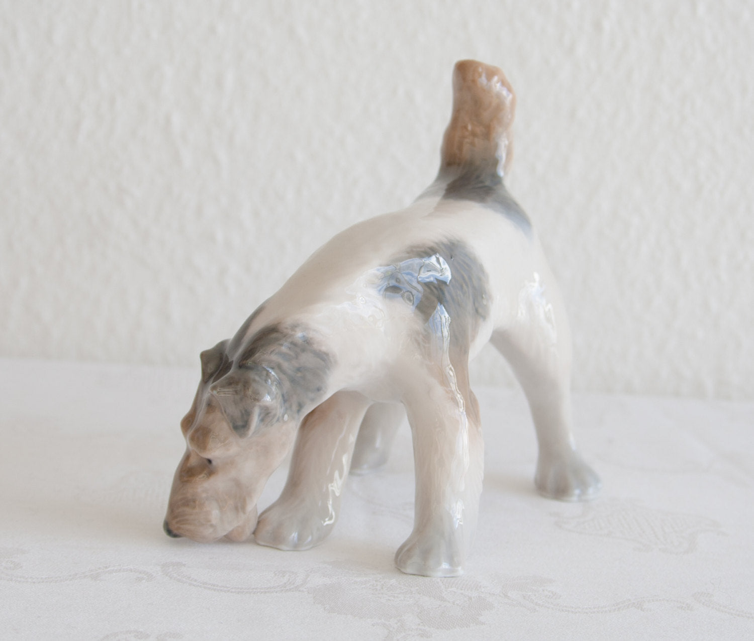 Royal Copenhagen PLATEN HALLERMUNDT Wire Haired Fox Terrier Porcelain Figurine # 3020 - Mollaris.com