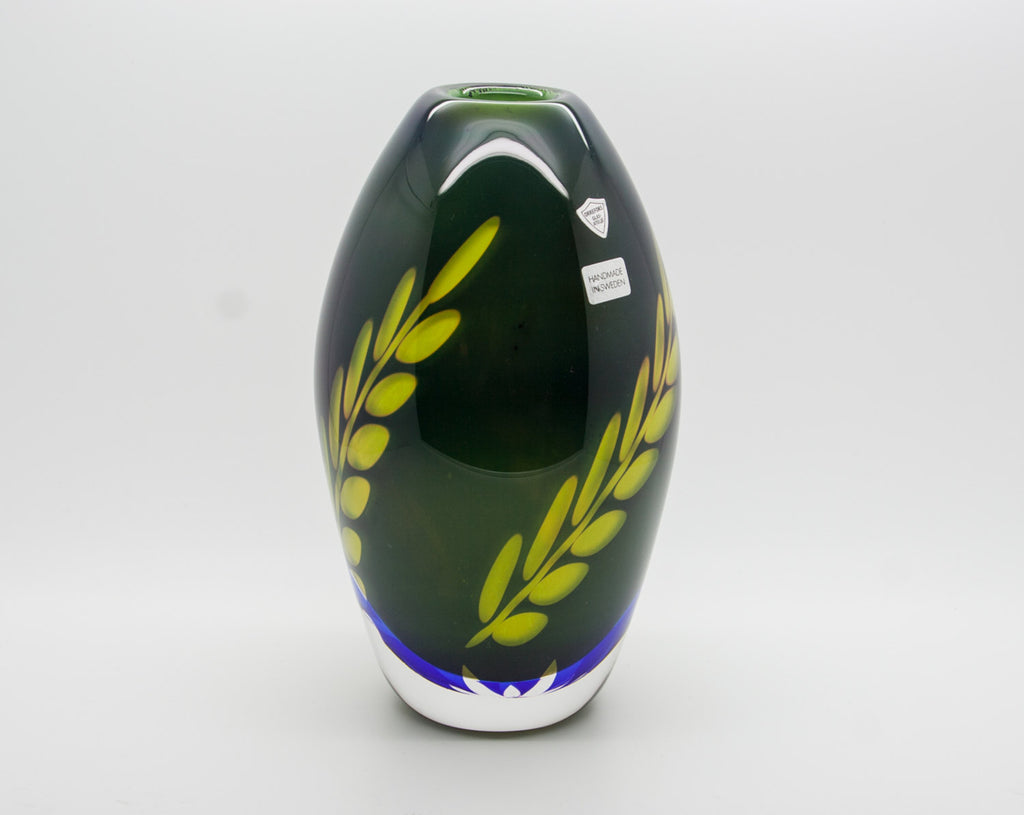 Orrefors HERMANN WINTERSTELLER Glasatelje Graal Glass Vase - Mollaris.com