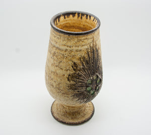 JETTE HELLERØE Abstract Sunflower Pattern Ceramic Vase - Mollaris.com