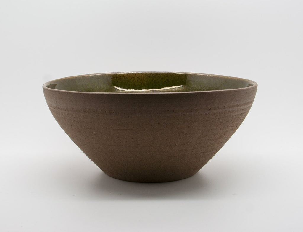 STURE G OHLSSON Dark Green Blue Glazed Bowl - Mollaris.com