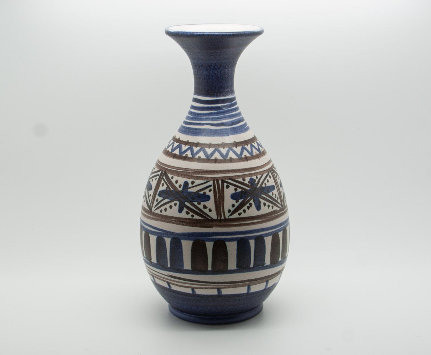 MICHAEL ANDERSEN Large Abstract Decorated Ceramic Vase - Mollaris.com