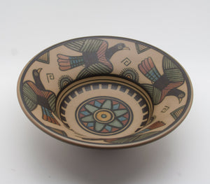 L. HJORTH Decorated Stylized Bird Ceramic Bowl - Mollaris.com