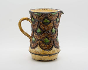 JETTE HELLERØE Abstract Scales Decorated Ceramic Pitcher - Mollaris.com