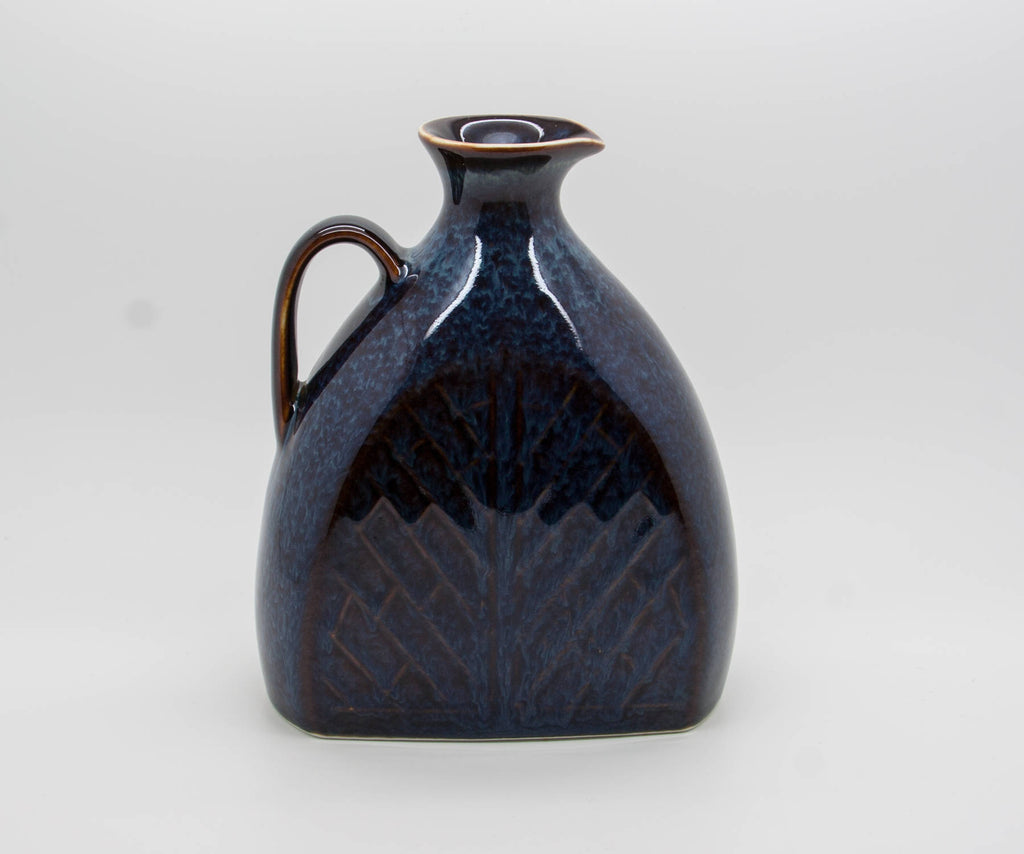 Rörstrand CARL HARRY STÅLHANE Blue Harefur Bottle Stoneware Vase - Mollaris.com