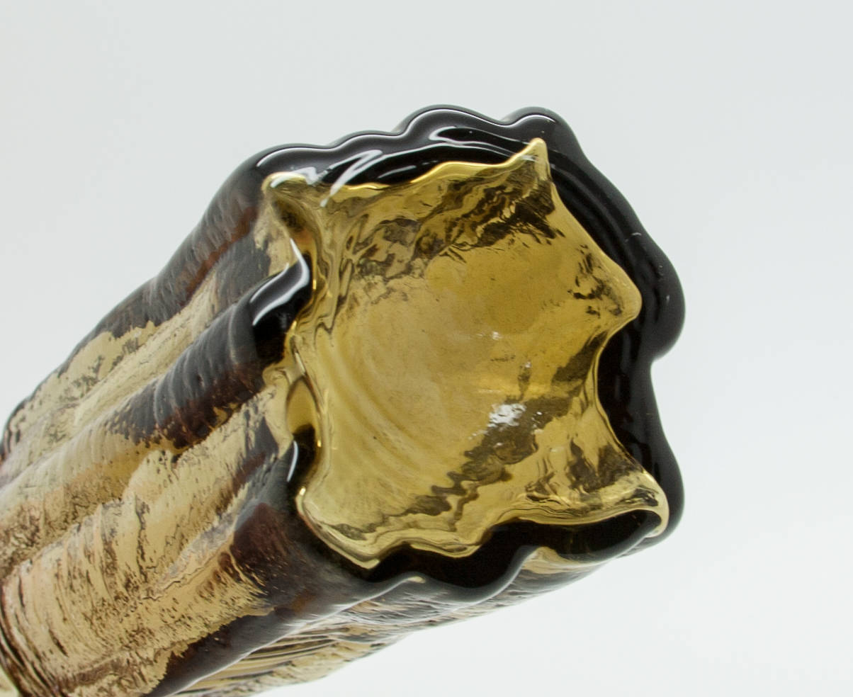 Lindshammar Christer Sjögren Mold-Blown Amber Glass Vase - Mollaris.com