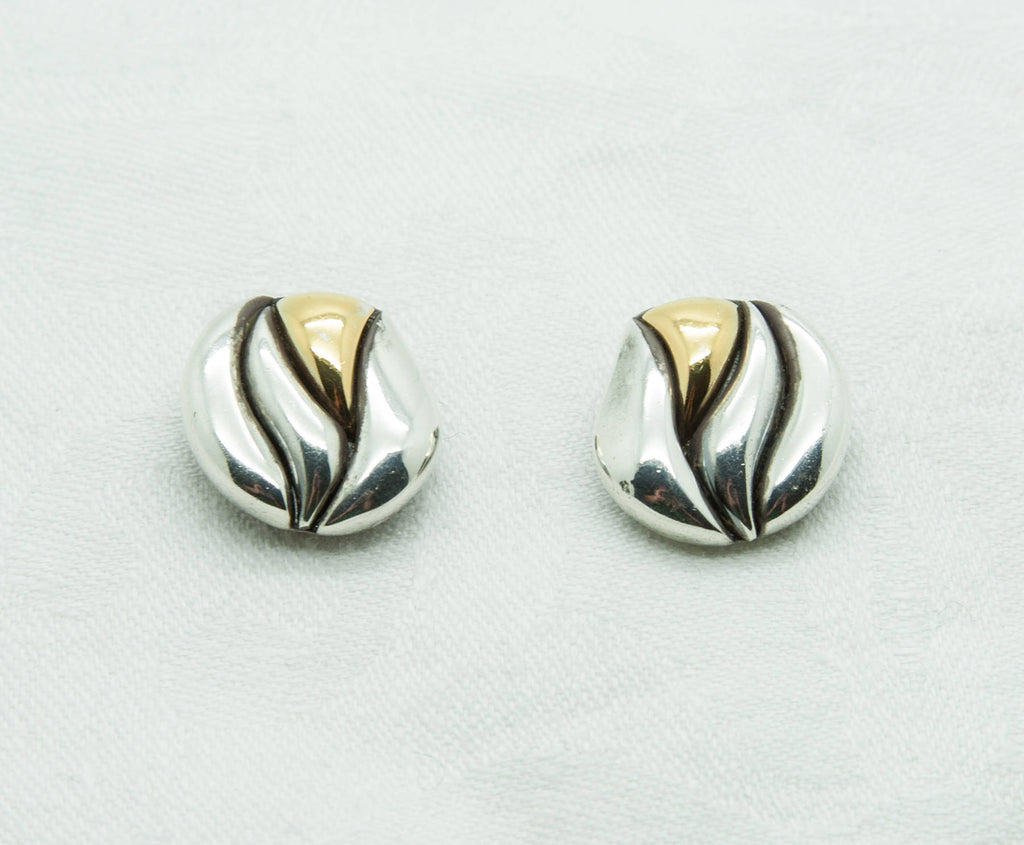 NIELS ERIK FROM Modernist Organic Clip-on Solid Sterling Silver Earrings (925S) - Mollaris.com