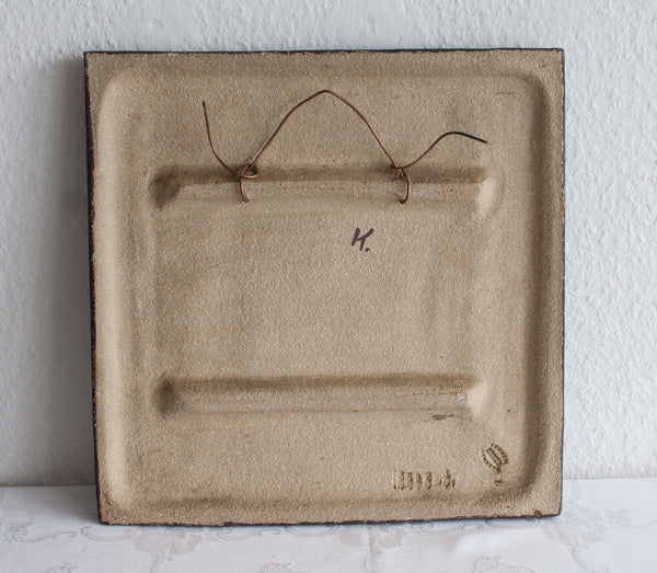 NOOMI BACKHAUSEN Søholm Abstract Branches and Fruits Stoneware Wall Plaque - Mollaris.com