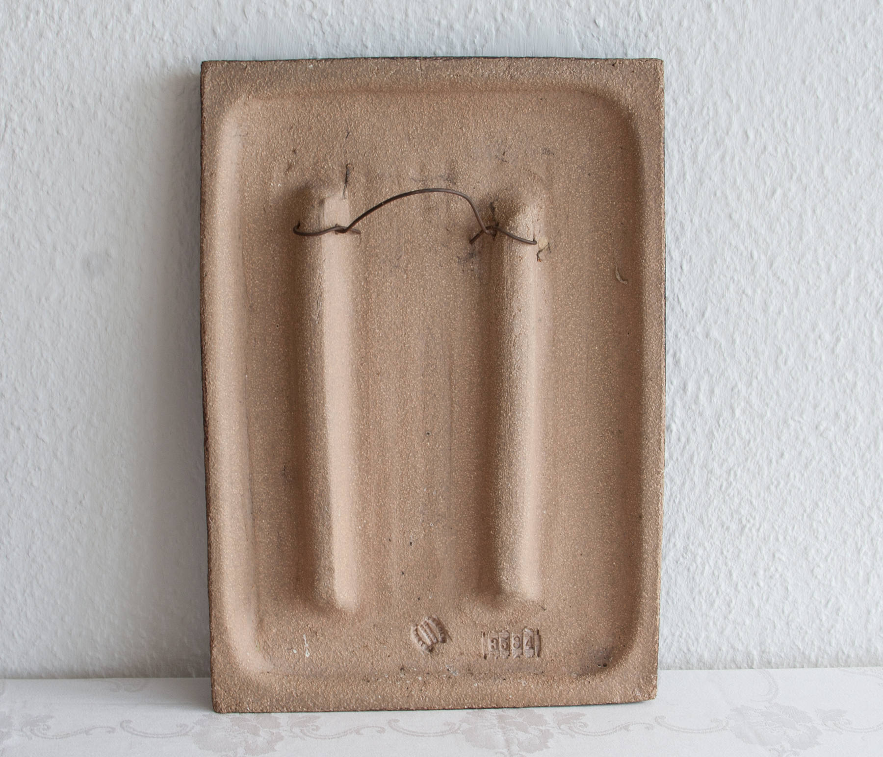 JOSEPH SIMON Søholm Couple Beneath Tree Stoneware Wall Plaque - Mollaris.com
