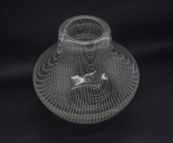 MILOS PULPITEL / RUDOLF SCHWEDLER Harrach Studio HARRTIL White Lattice Glass Vase - Mollaris.com