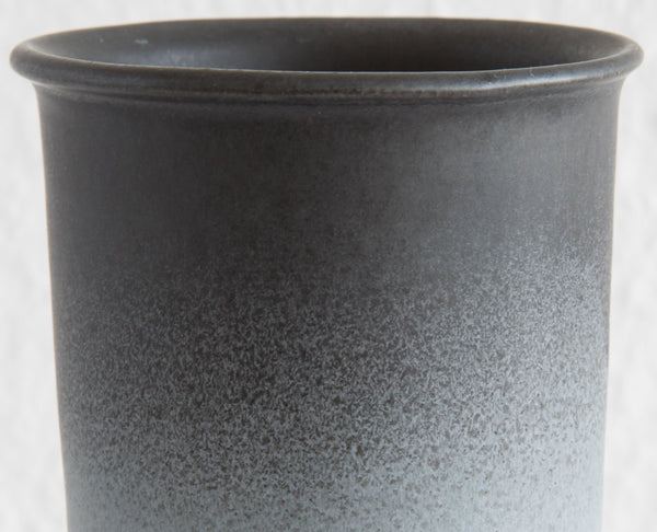 WÜRTZ Ceramics Contemporary Black Grey Gradient-Glazed Stoneware Vase - Mollaris.com