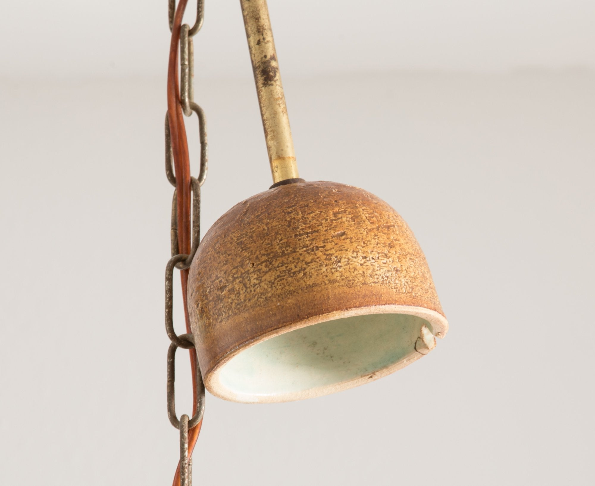 JETTE HELLERØE Large Abstract Decorated Ceramic Pendant Light - Mollaris.com