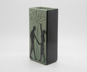 HOLM SØRENSEN Søholm Two Lovers Beneath an Apple Tree Square Ceramic Vase - Mollaris.com