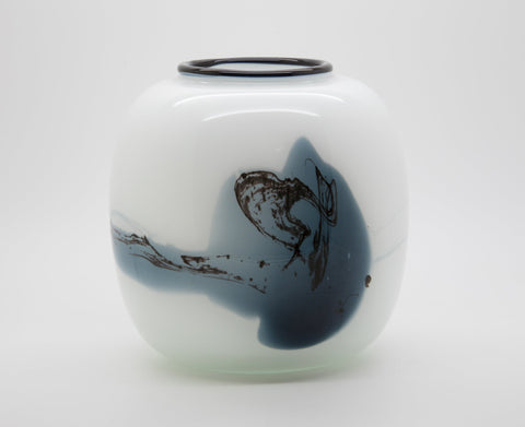 MICHAEL BANG Holmegaard ATLANTIS Studio Glass Ball Vase - Mollaris.com