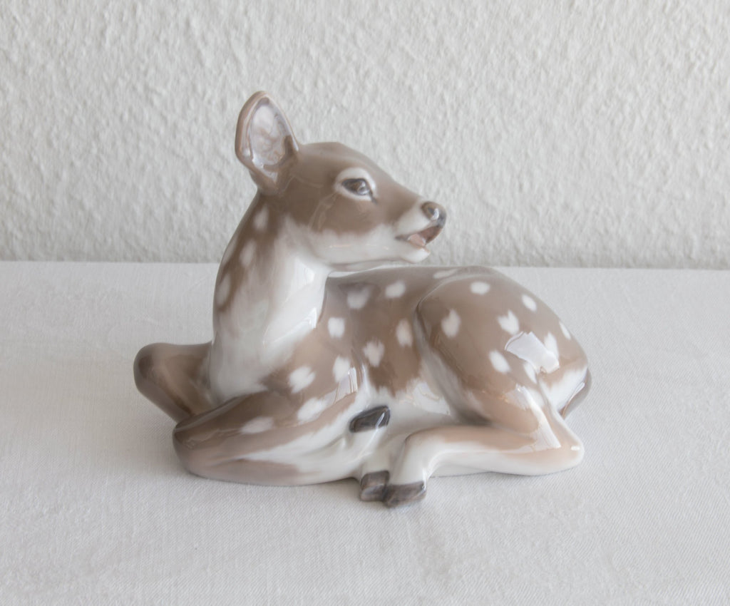 Royal Copenhagen KNUD KYHN Decorated Porcelain SPOTTED FAWN Figurine # 2609 - Mollaris.com