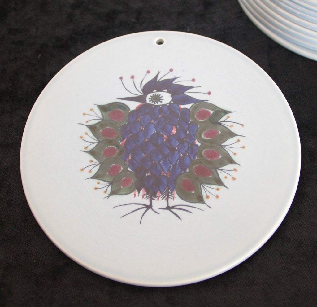 Royal Copenhagen BETH BREYEN Crazy Bird Faiance Plaque Buttering Board - Mollaris.com