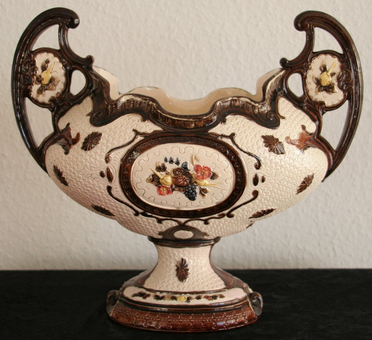 Large Majolica Flower Pot Planter Jardiniere - Mollaris.com