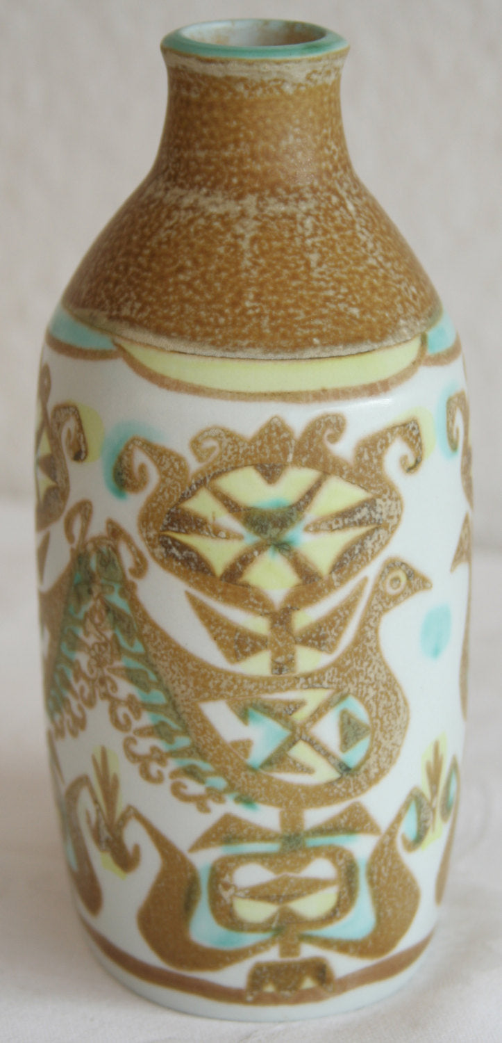 Royal Copenhagen NILS THORSSON BACA Bird Design Faiance Vase - Mollaris.com
