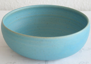 VIBEKE FISCHER Contemporary Turquoise Glazed Ceramic Bowl - Mollaris.com