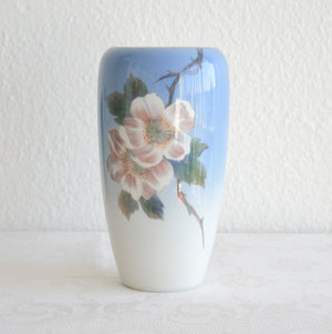 Royal Copenhagen Large Decorated Porcelain Wild Roses Vase - Mollaris.com
