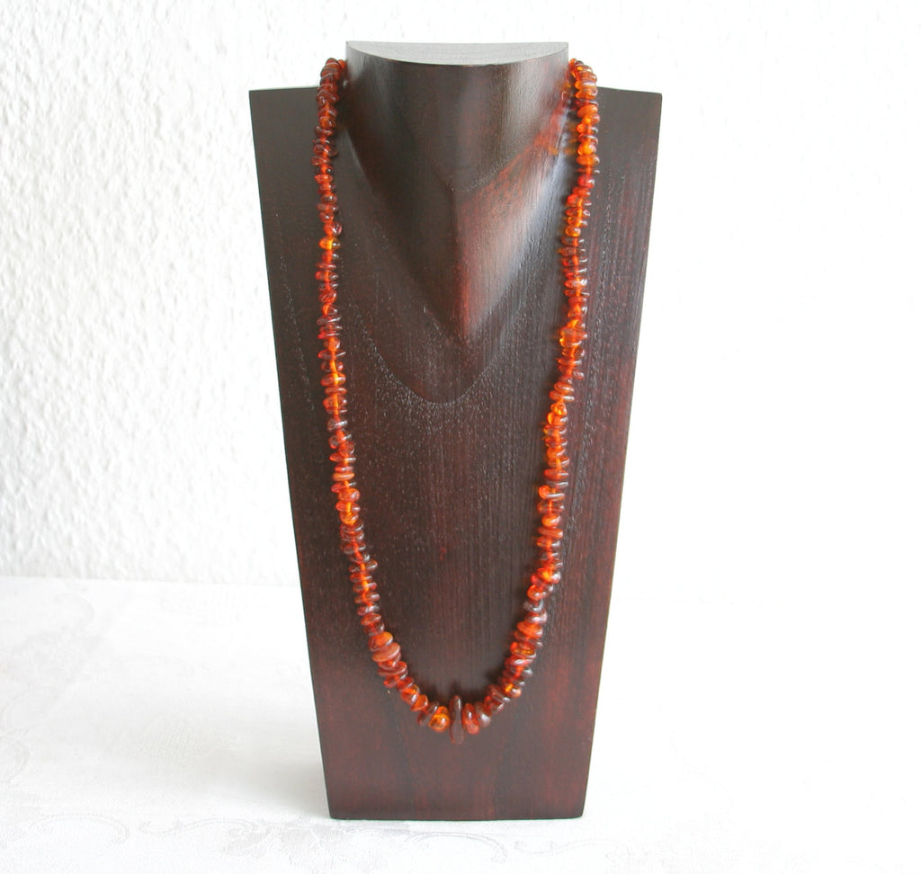 VINTAGE BALTIC AMBER Necklace Red brown Cognac 26 gr - Mollaris.com
