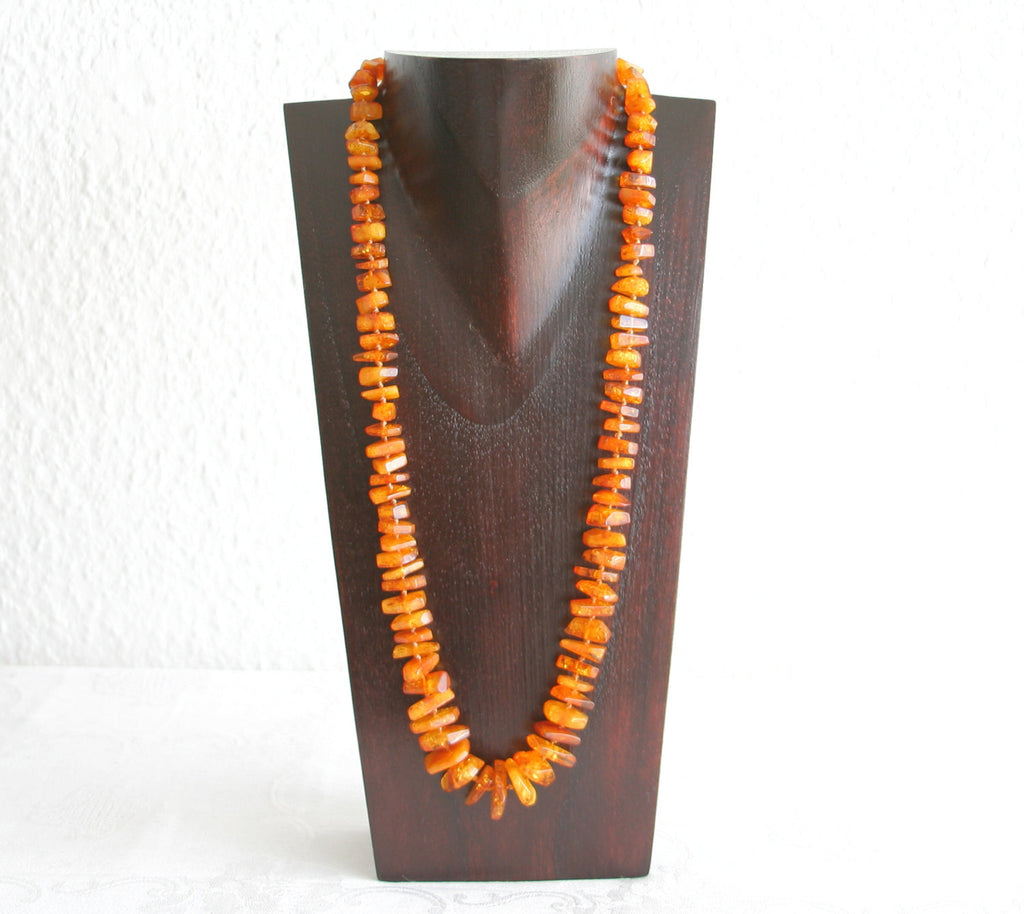 VINTAGE BALTIC AMBER Necklace Cognac 47 gr - Mollaris.com