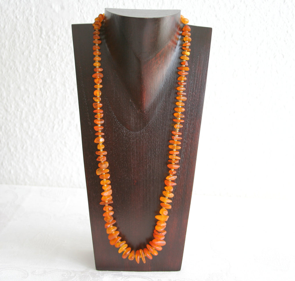 VINTAGE BALTIC AMBER Necklace Cognac 32 gr - Mollaris.com