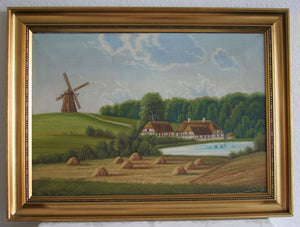 TORSTEN PALM Windmill Farm Fields Country Side Painting - Mollaris.com
