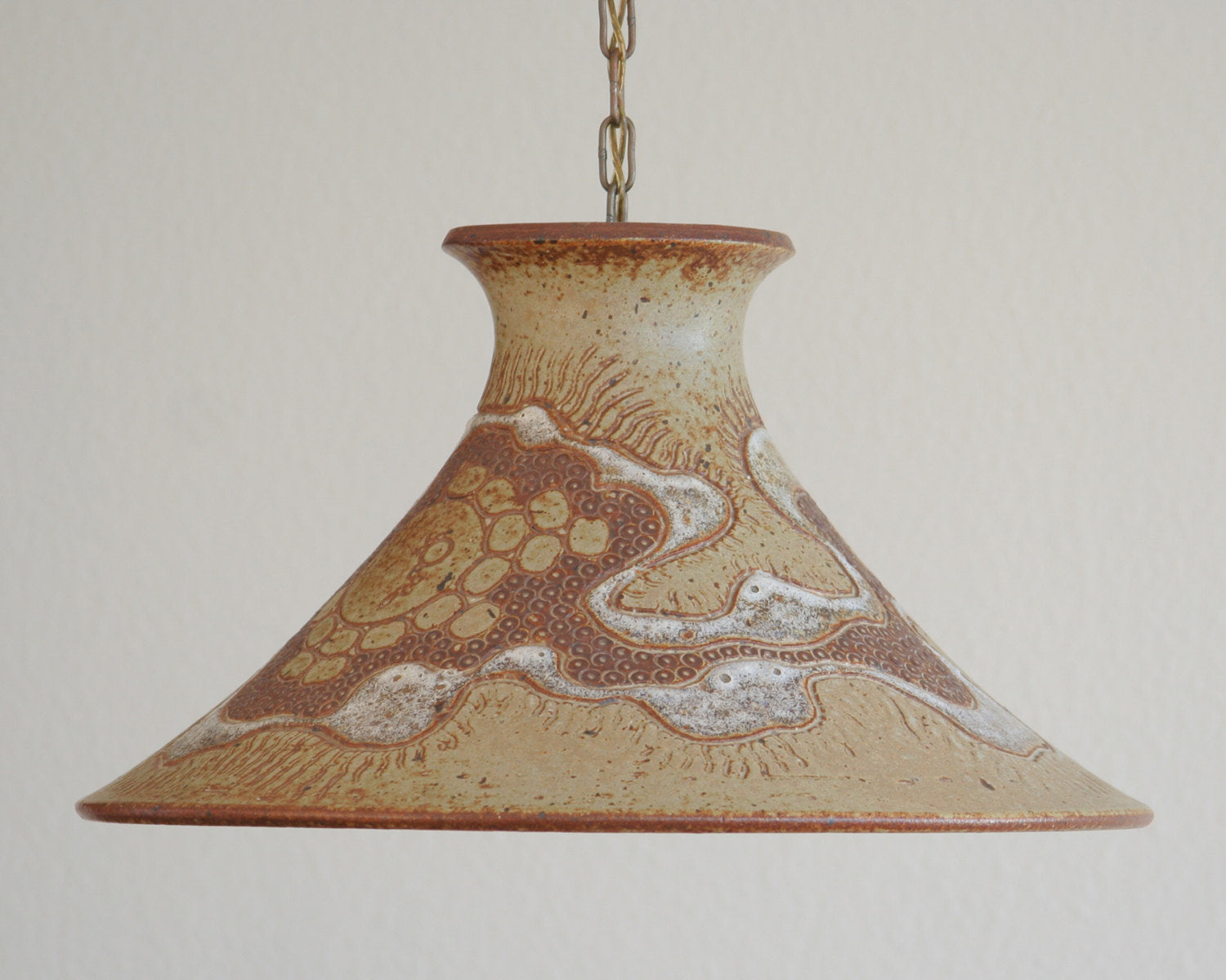 METTE LØKKE STIIL Studio Large Organic Decorated Stoneware Pendant Light - Mollaris.com