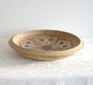 METTE LØKKE STIIL Studio Large Organic Flower Patterned Stoneware Fruit Bowl - Mollaris.com