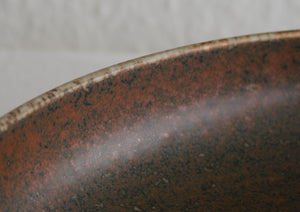 Rörstrand CARL HARRY STÅLHANE Large Brown Harefur Glazed Stoneware Bowl Dish - Mollaris.com
