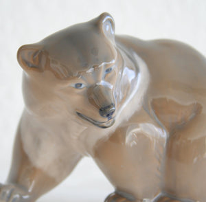 Royal Copenhagen KNUD KYHN Large Decorated Porcelain BEAR Figurine # 2841 - Mollaris.com
