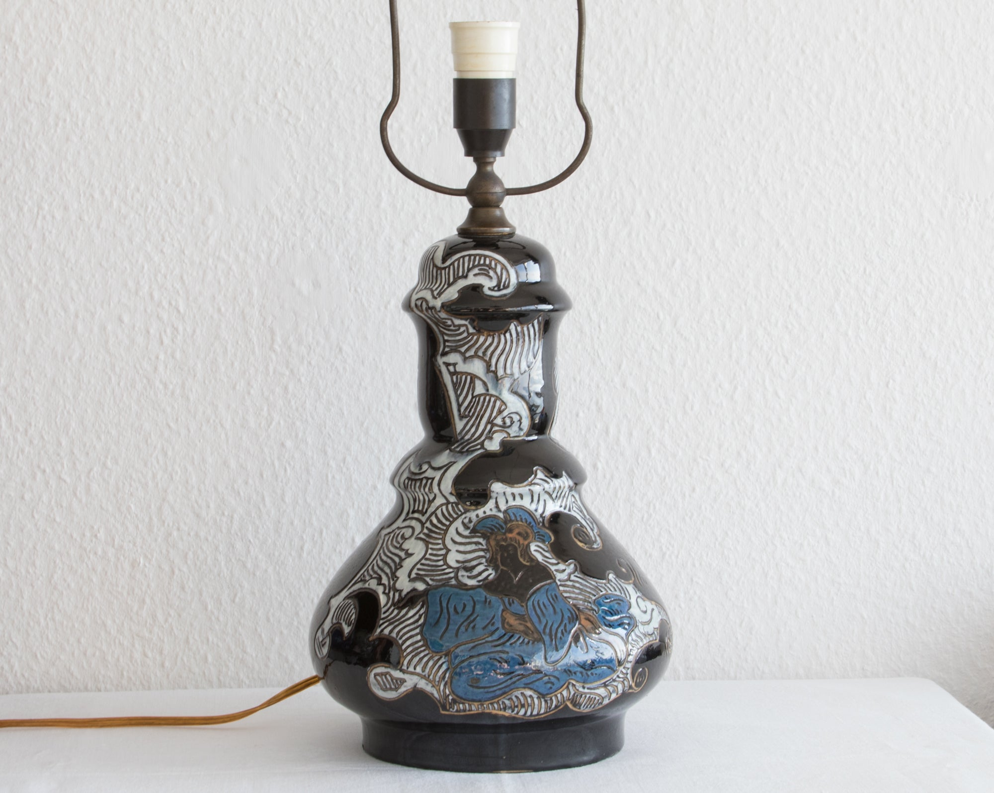 MØLLER & BØGELY Japonism Decorated Ceramic Table Lamp - Mollaris.com