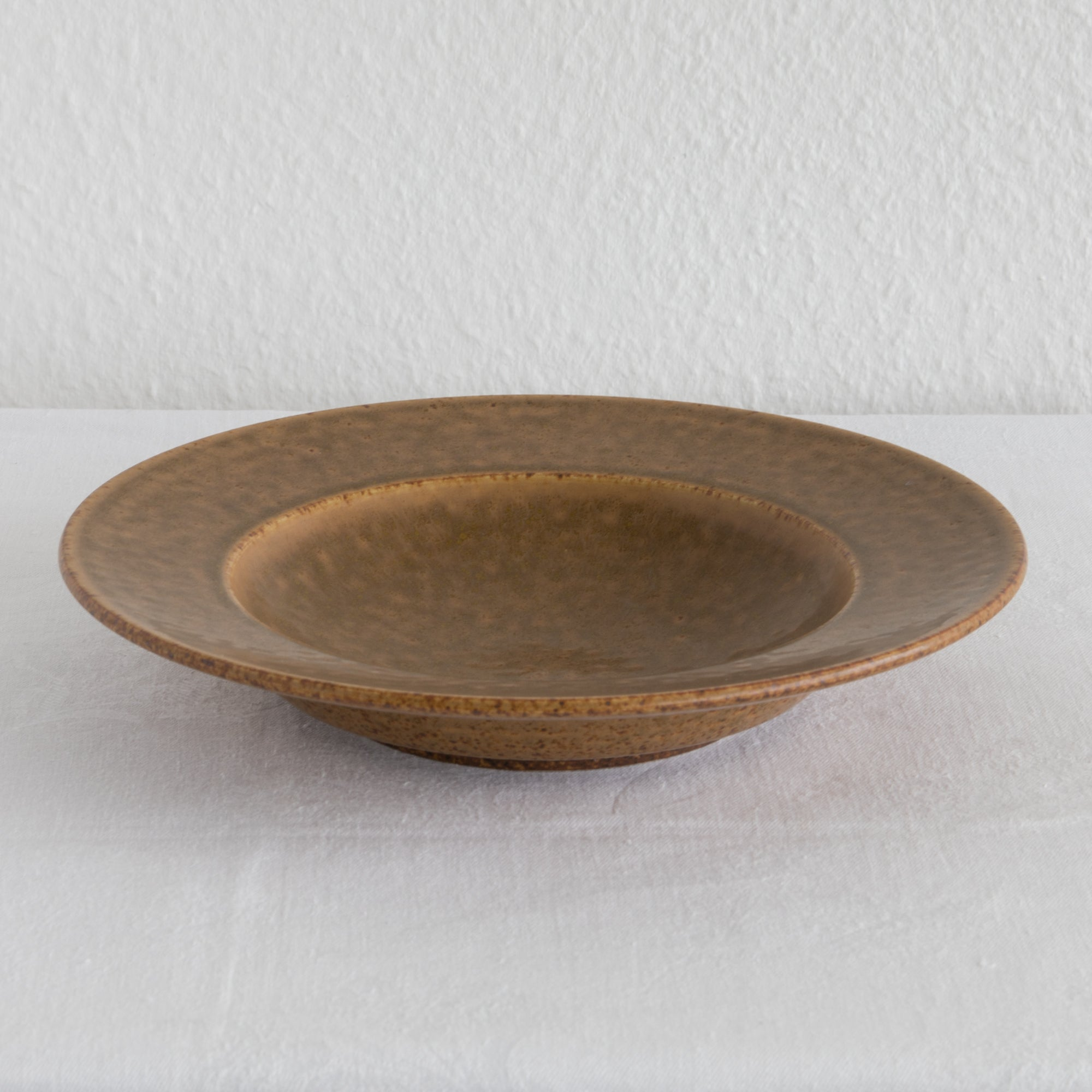 PER LINNEMANN SCHMIDT Palshus Unique Caramel Brown Speckled Glazed Stoneware Bowl - Mollaris.com