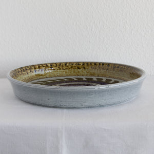 Rörstrand OLLE ALBERIUS Large TITUS Decorated Stoneware Tray Dish - Mollaris.com